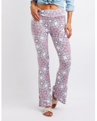 Charlotte Russe - Paisley Flare Pants - Lyst
