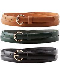 Charlotte Russe - Skinny Belts - 3 Pack - Lyst
