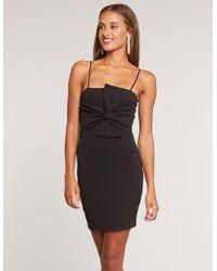 b7f582d6257 Lyst - Charlotte Russe Choker Neck Asymmetrical Bodycon Dress in Black