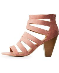 Charlotte Russe - Qupid Caged Open Toe Sandals - Lyst