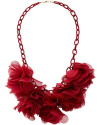 Charlotte Russe - Floral Fabric Linked Choker Necklace - Lyst