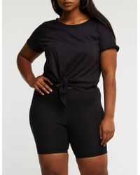 Charlotte Russe - Plus Size Bike Shorts - Lyst