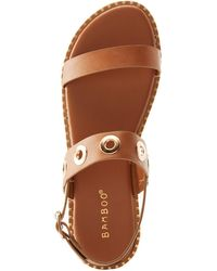 Charlotte Russe - Bamboo Grommet Band Sandals - Lyst