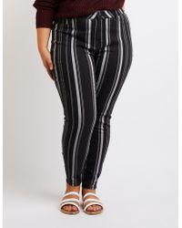 Charlotte Russe - Plus Size Refuge Striped Skinny Jeans - Lyst