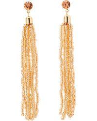 Charlotte Russe - Beaded Tassel Drop Earrings - Lyst