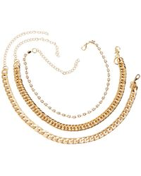 Charlotte Russe - Chainlink Necklaces - 3 Pack - Lyst