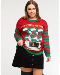 Charlotte Russe - Plus Size Holiday Phone Pocket Sweater - Lyst