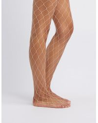 Charlotte Russe - Exploded Fishnet Tights - Lyst