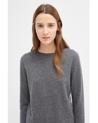 Chinti & Parker - Grey Cashmere Crew Sweater - Lyst