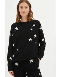 Chinti & Parker - Black Slouchy Star Cashmere Jumper - Lyst