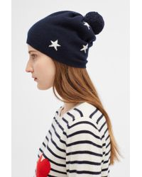Chinti & Parker - Navy Cashmere Star Hat - Lyst