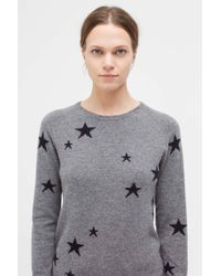 Chinti & Parker - Grey Star Cashmere Sweater - Lyst