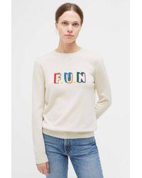 Chinti & Parker - Cream Fun Cashmere Sweater - Lyst