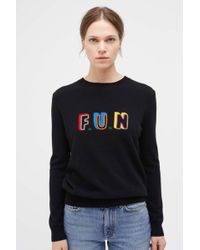 Chinti & Parker - Slogan Fitted Sweater - Lyst