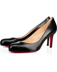 b5d501727fd6 Lyst - Christian Louboutin Simple Patent 70mm Red Sole Pump in Brown