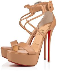 a6fd55b042 Christian Louboutin Choca Floral Snake Red Sole Sandal - Lyst