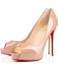 Christian Louboutin - Very Prive Patent Leather Platform Court Shoes - Lyst