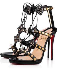 8ea8b7a987f Lyst - Christian Louboutin Multiplaticool Studded Gladiator Sandal ...