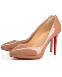 a7a6469be363 Lyst - Christian Louboutin Pigalle Plato 120 Patent-Leather Pumps in ...