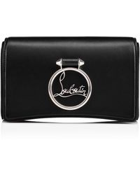 Christian Louboutin - Rubylou Clutch Black/black Classic Leather - Lyst