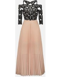 34442a6c0c7f Christopher Kane - Lace Crotch Pleated Dress - Lyst