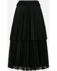 Christopher Kane - Polka Dot Tiered Pleated Skirt - Lyst