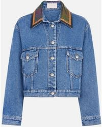 Christopher Kane - Chainmail Denim Jacket - Lyst