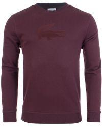 Lacoste - Tonal Flocked Logo Fleece Sweatshirt - Lyst