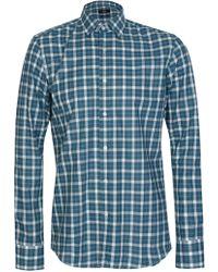 BOSS - Hugo Jenno Checked Slim Fit Shirt - Lyst