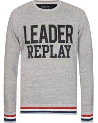 Replay - Leader Print Sweatshirt - Lyst