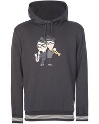 d48d632dc5b6 Dolce   Gabbana - Musical Applique Hooded Sweatshirt Black - Lyst