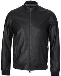 Armani - Jeans Leather Look Jacket Black - Lyst