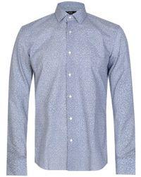 BOSS - Hugo Jenno Floral Shirt Blue - Lyst