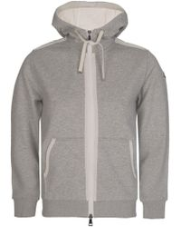 942e83214fa6 Moncler Classic Zip Hoodie in Blue for Men - Lyst