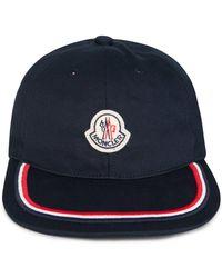 be0ec63f9cc Moncler Classic Baseball Cap in Black for Men - Lyst