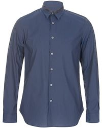 Paul Smith - Ps Patchwork Contrast Collar Shirt Navy - Lyst