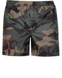 Valentino - V Logo Camouflage Swim-shorts - Lyst