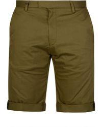 HUGO - Fitted Shorts Khaki - Lyst