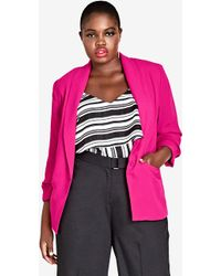 City Chic - Dapper Blazer Jacket - Lyst