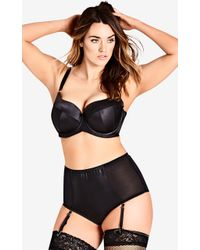 City Chic - Kate Contour Uplift Bra - Black - Lyst