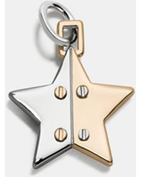 COACH - Two Tone Hinged Star Charm - Lyst
