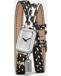 COACH - Ludlow Double Wrap Watch With Charm - Lyst