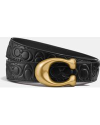 COACH - Sculpted Signature Reversible Belt In Signature Leather - Lyst
