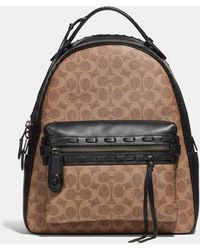 COACH - Campus Backpack In Signature Canvas With Whipstitch - Lyst