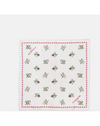 COACH - Cross Stitch Floral Hanky - Lyst