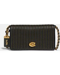 9a757f216f Lyst - COACH Dinky In Glovetanned Leather With Car Print in Black