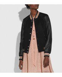 COACH - Embellished Varsity Jacket - Lyst