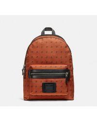 COACH - Academy Backpack In Dot Diamond Print Cordura® Fabric - Lyst
