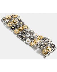 COACH - Wide Daisy Rivet Bracelet - Lyst