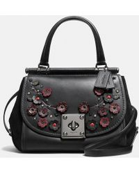 COACH - Drifter Top Handle In Glovetanned Leather With Willow Floral - Lyst